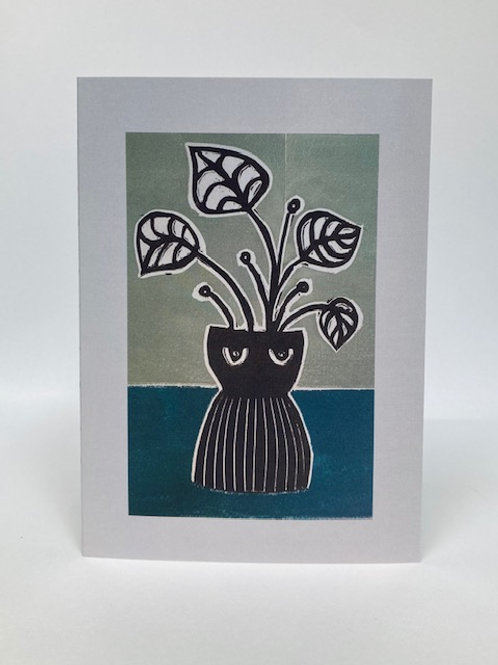 Vase Card - Green