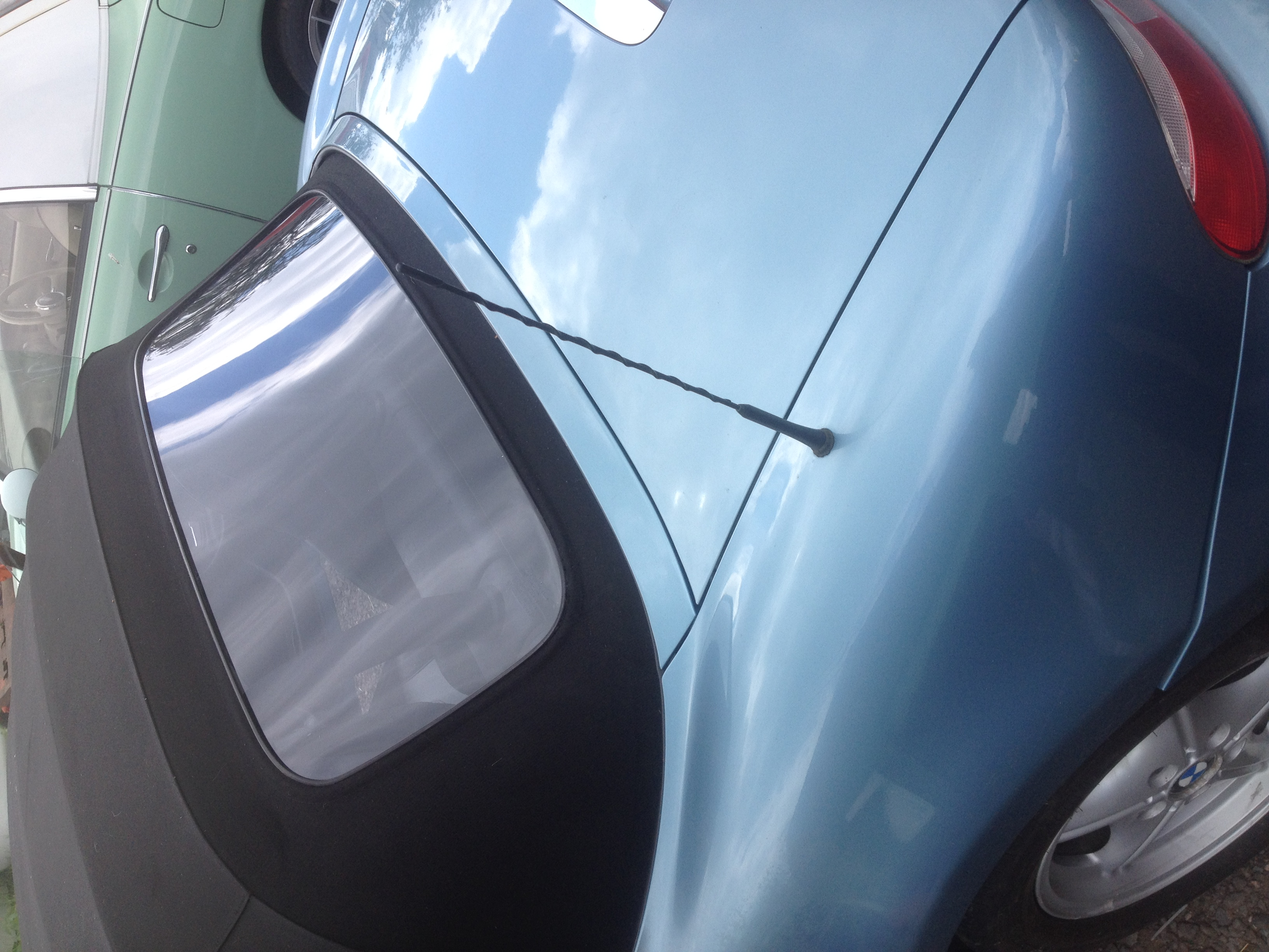 BMW Z4 rear plastic window