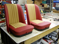 Jaguar xk 120 leather seats