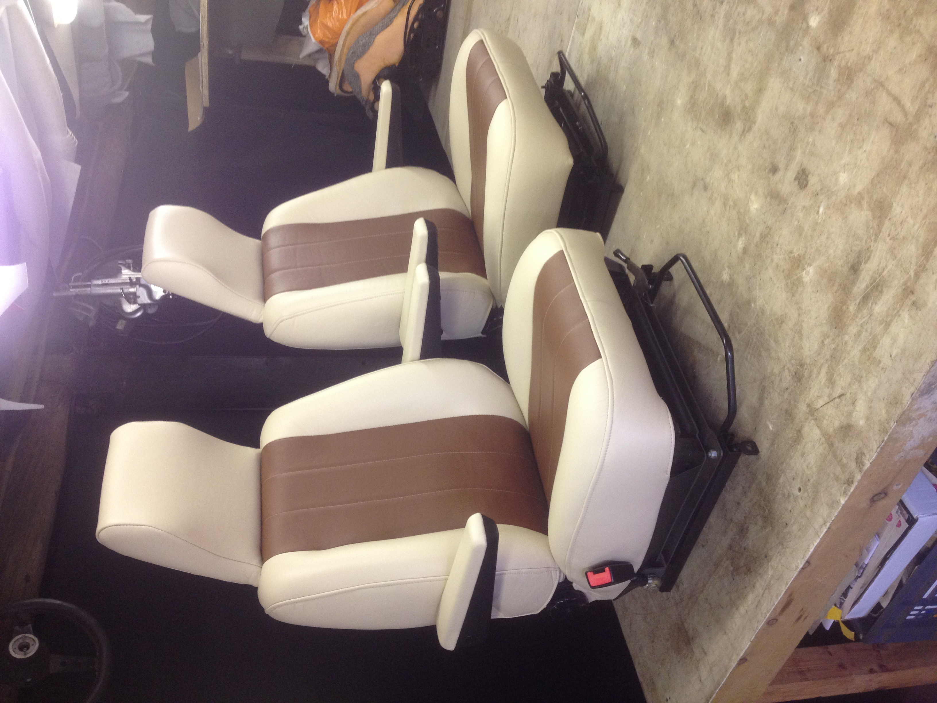 camper van leather seats