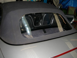 Porsche rear plastic window