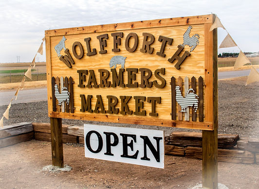 Wolfforth Farmers Market Sign