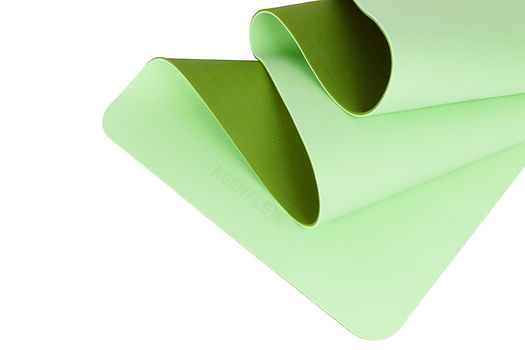 Durable green yoga mat