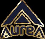 Aurea - Logo Curvada Blue Navy Vertical
