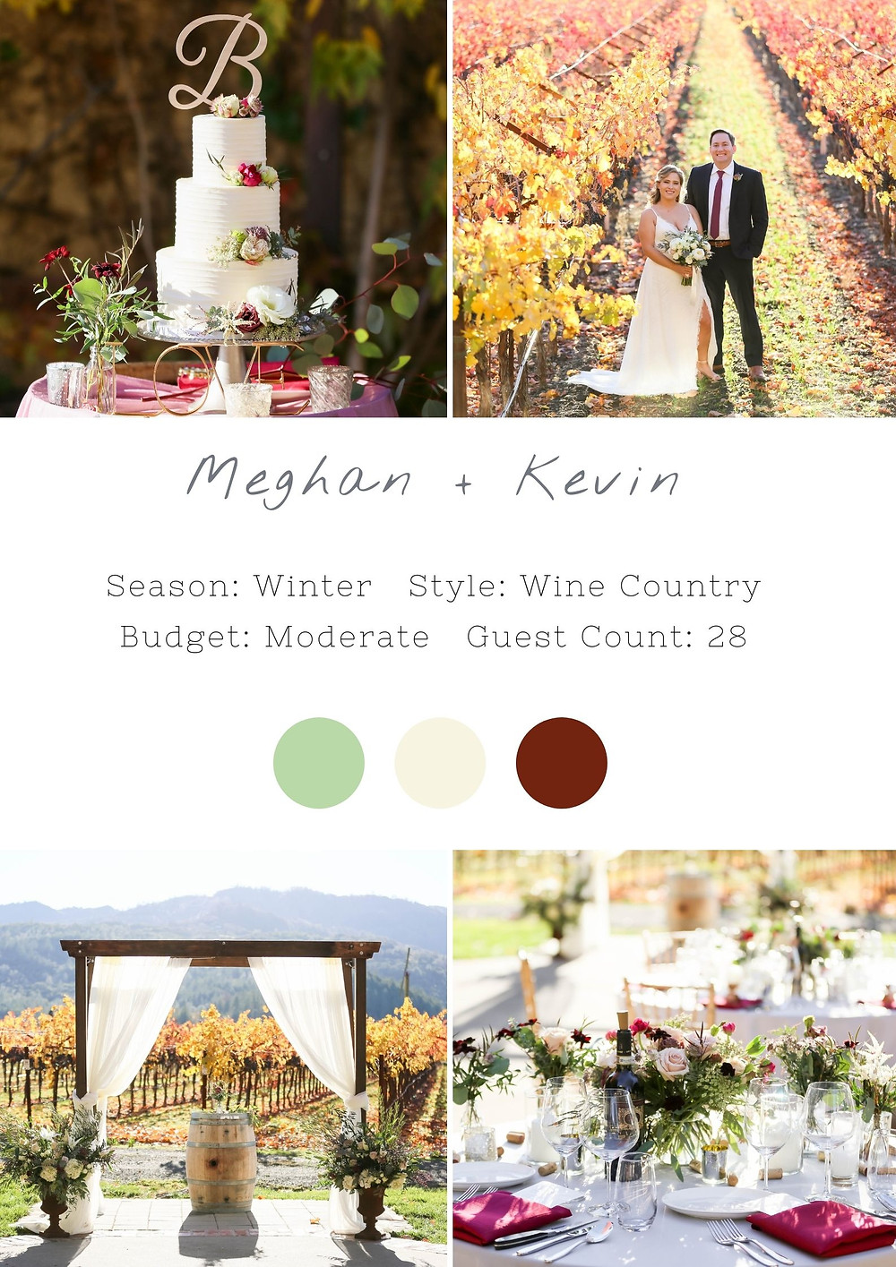 wedding in wine country