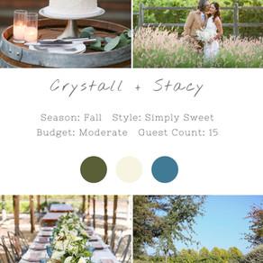 CRYSTALL + STACY - SONOMA WEDDING