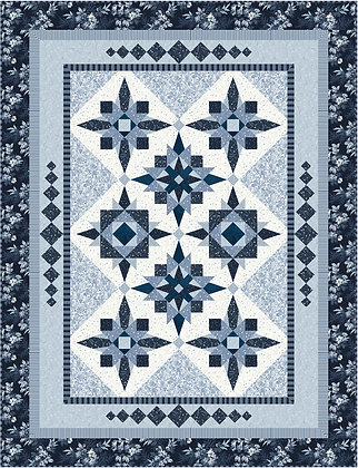 Blue Ice Digital Pattern