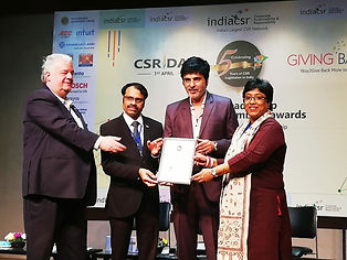 1. Award by the India CSR in 2019 as the 25 most impactful Corporate Social Responsibility