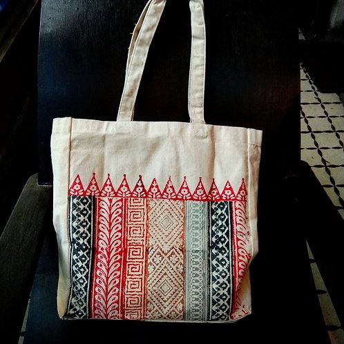Stunning hand block printed Tote bag