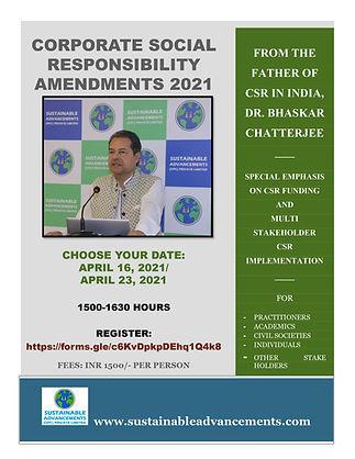 CSR AMENDMENTS 2021 - DR. BHASKAR CHATTE