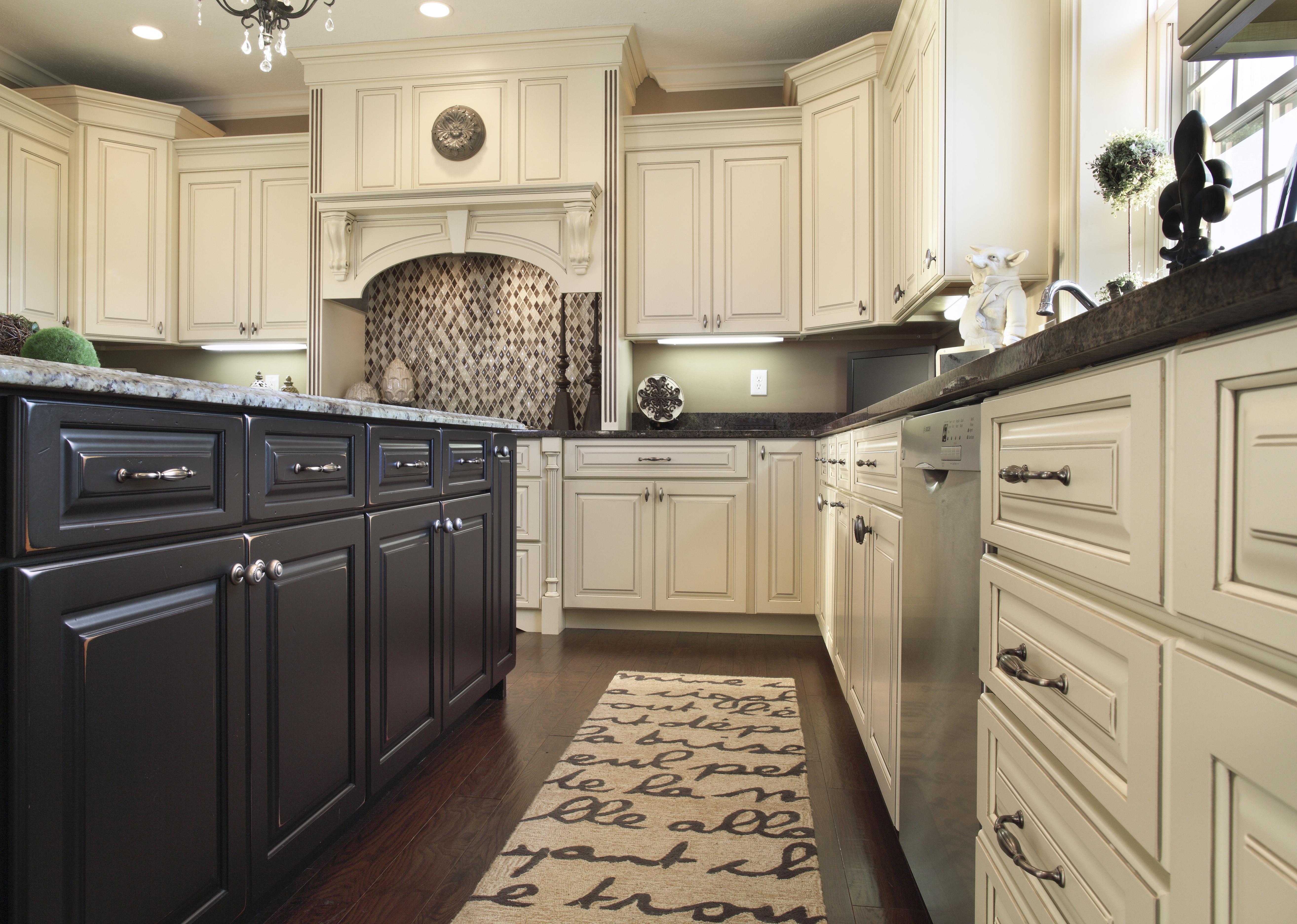 oxford raised kitchen cabinet