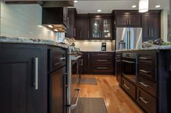 oak espresso kitchen drawer cabinets