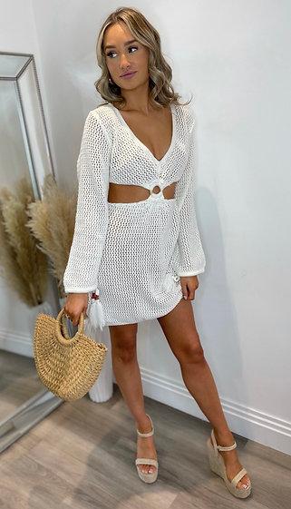 MEADOW DRESS- WHITE