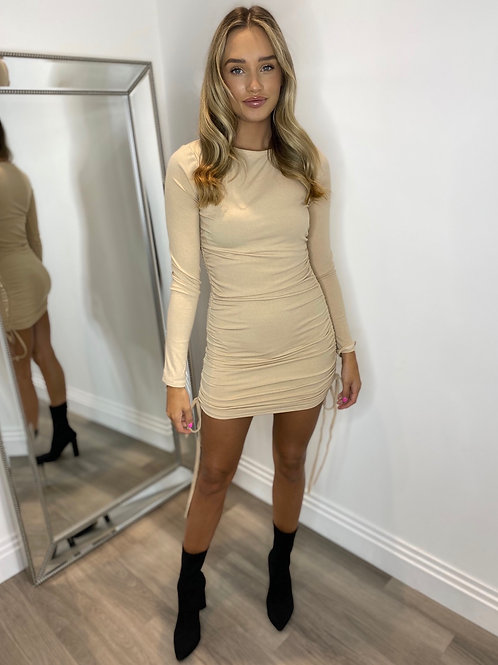 LUCIA DRESS - CAMEL