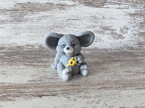 Lindo ratoñito con queso - Jabón de glicerina