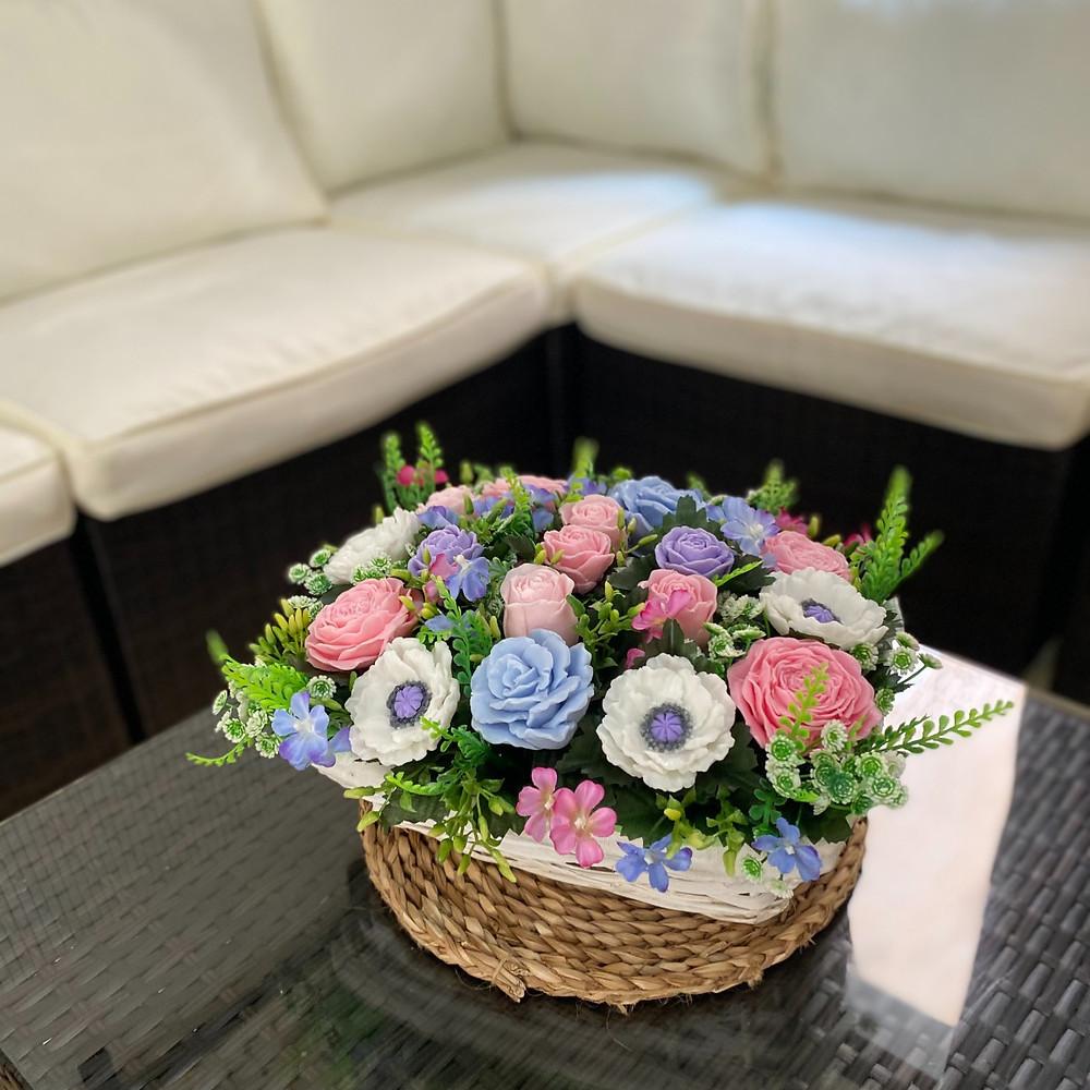 Delicado ramo de flores de jabón «Juicy Mix»