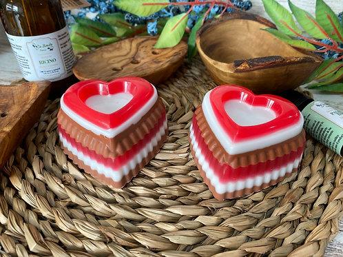 Jabón glicerina corazon