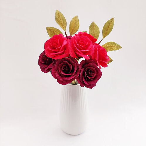 Red & Burgundy Rose Bouquet