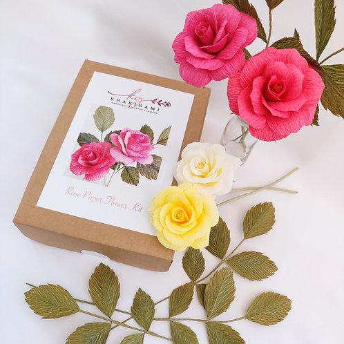 Rose Paper Flower Kit