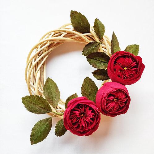 David Austin Rose Wreath
