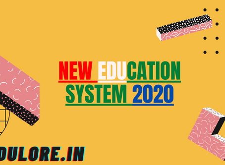 NEW EDUCATION SYSTEM MODEL OF INDIA
