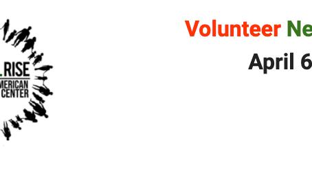 Volunteer Newsletter April 6th 2021