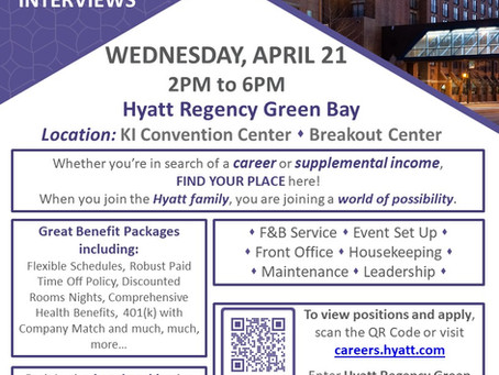 Hyatt Regency Openings 4/15/2021