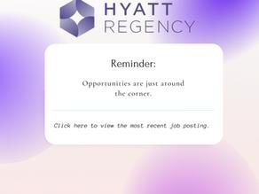 Hyatt Regency Job Postings
