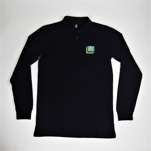 Green Brick Badge Polo Long-Sleeve