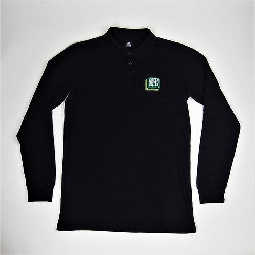Green Brick Badge Polo Long-Sleeve