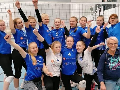 Juju B1 kotiturnaus Nepen koululla 30.11. – Tunnemyrskyjä ja lentopalloa