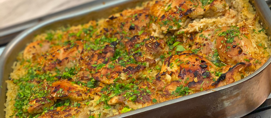 Yogurt Marinated Chicken & Rice, Turkish-Style