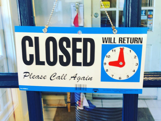 Today, 7/30/20, Studio 20/20 will be closing @ 3:45pm due to a business meeting. Thanks!