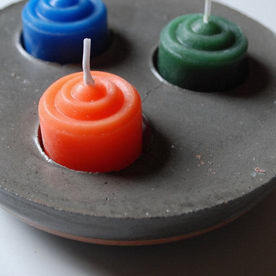 """Three Rings"" - 1 piece: Votive Candleholder"