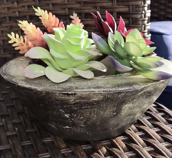 """""""The Dark Side Two"""" -1 piece: Large planter/candleholder"""