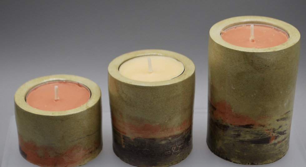 """""""Autumn candles"""": Candleholders: 3 pieces"""