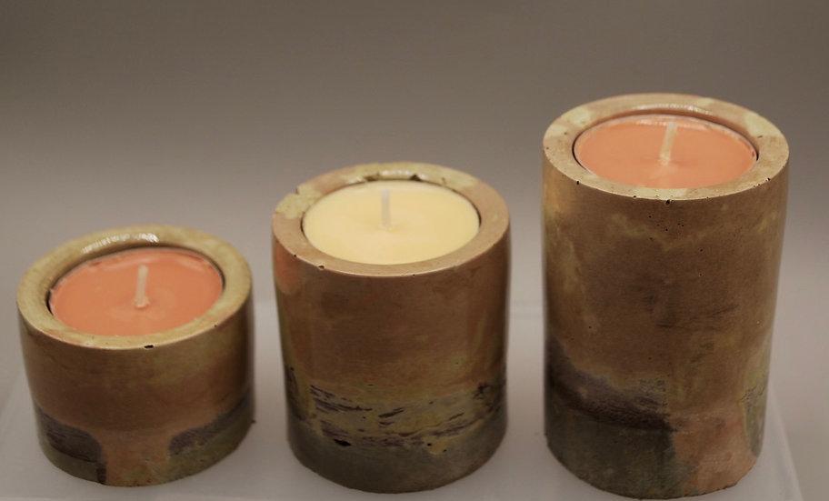 """Feels like Fall"": candleholders: 3 pieces"