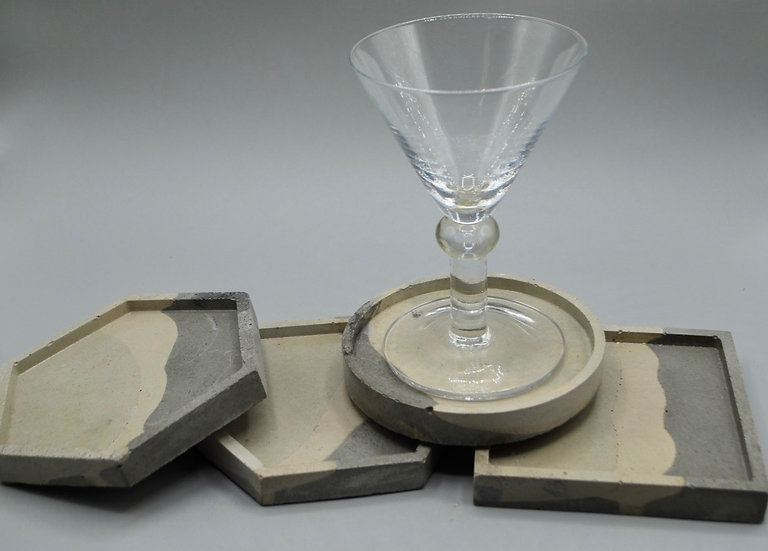 """""""Understated"""": coasters: 4 pieces"""
