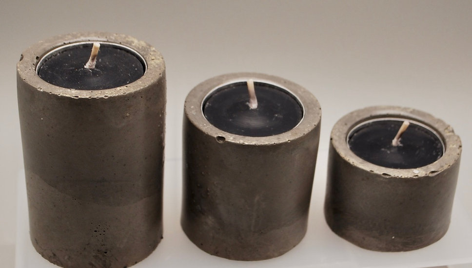 """""""Spooked Out"""" : Candleholders- 3 pieces"""