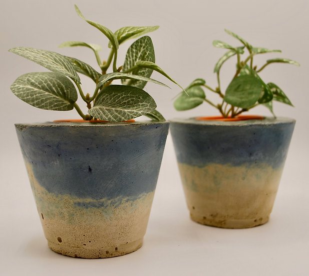 """""""Summer in Provence series""""- 2 pieces: candleholders/tiny planters"""