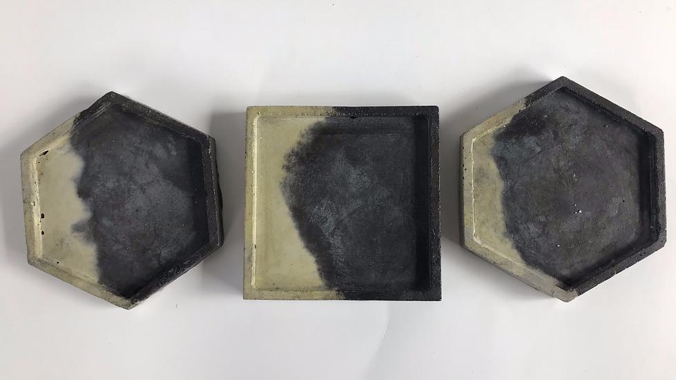 """Smoky Blend""- 3 pieces: Coasters"