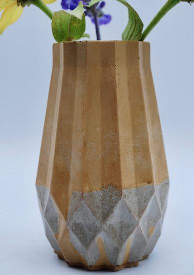 """Yellow facet""- 1 piece: vase"