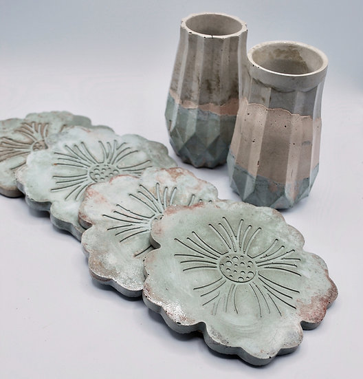 """""""Soothing peach & sage"""" - special collection- 6  pieces"""