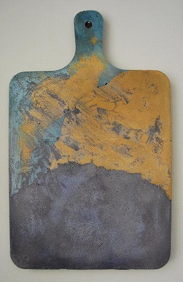 """""""Purple Paddle""""-1 piece"""" tray, hanging art"""