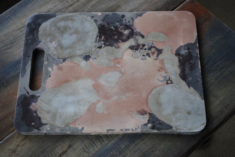 """""""Coral stormy clouds""""- 1 piece- tray/stand"""