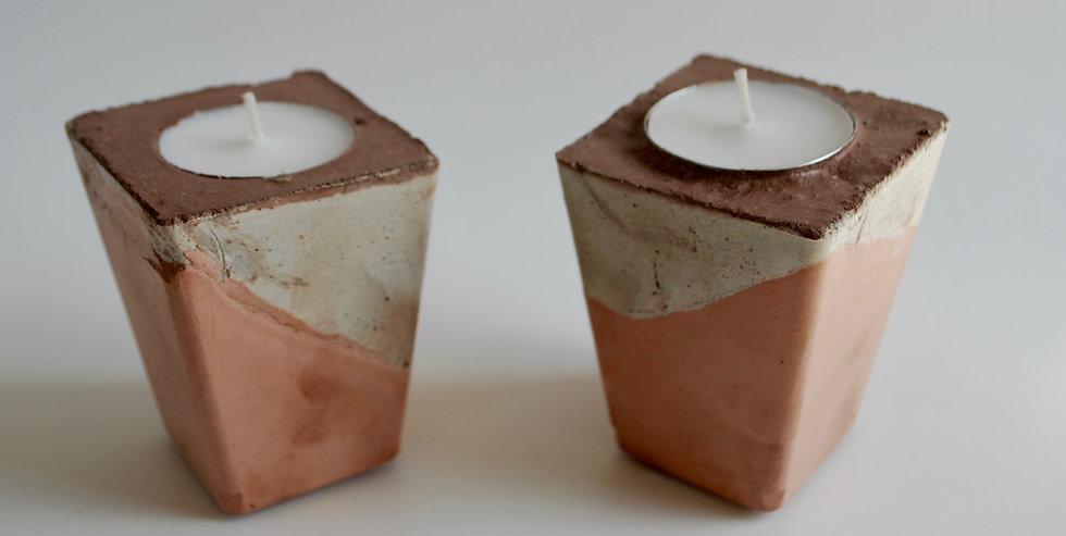 """""""Desert Dream""""- 2 pieces: Tealight candleholders"""