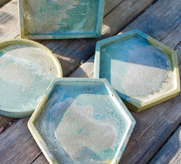 """""""Summer Sand"""" - 4 pieces: coasters"""