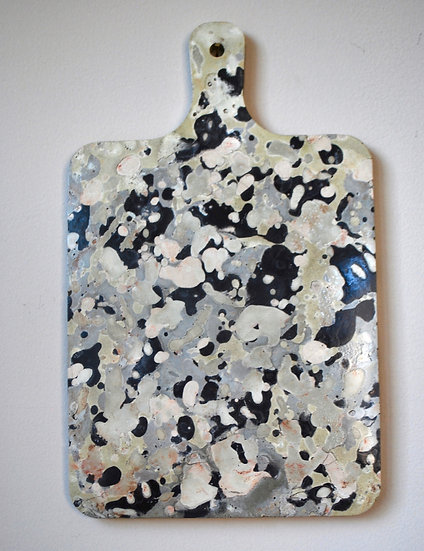"""""""Masters Series:  a nod to Pollock""""- 1 piece: paddle/ tray/  hanging art"""