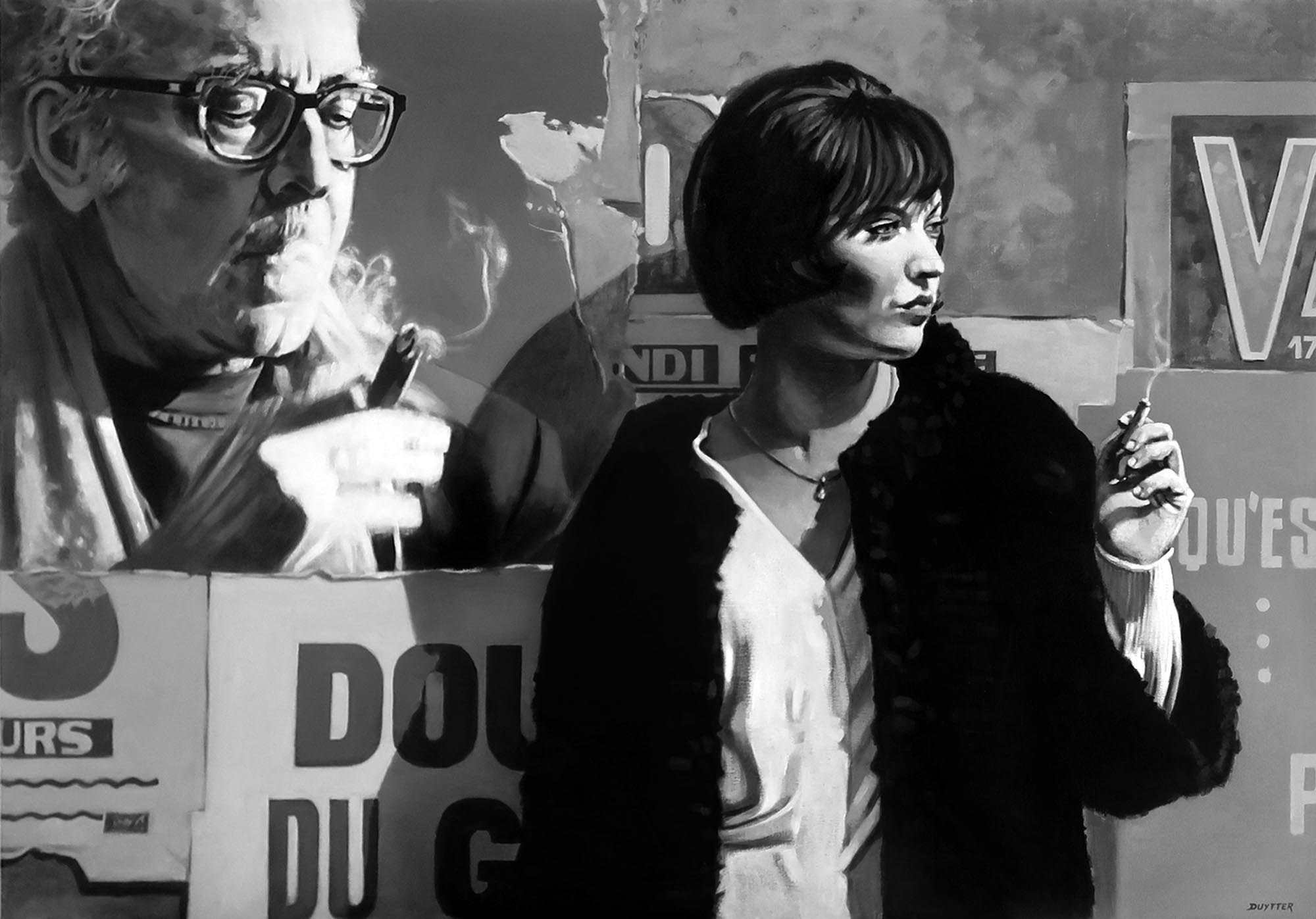 Hommage à JL Godard avec Anna Karina