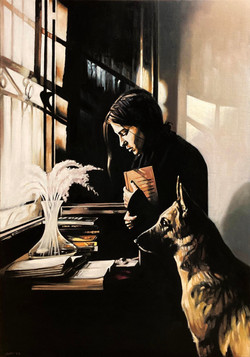 The Woman and the dog